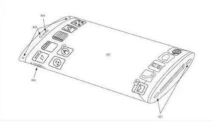 苹果获新专利:曲面屏360度环绕iPhone