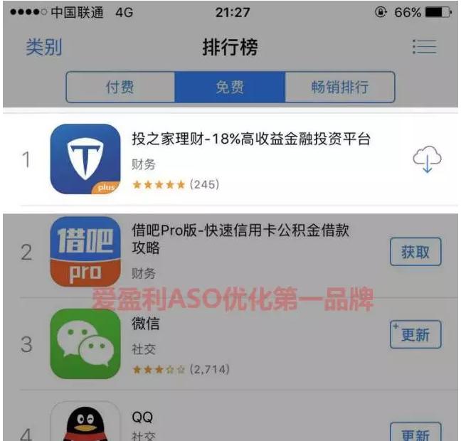 一周ASO上AppStore免费榜总榜Top1的套路