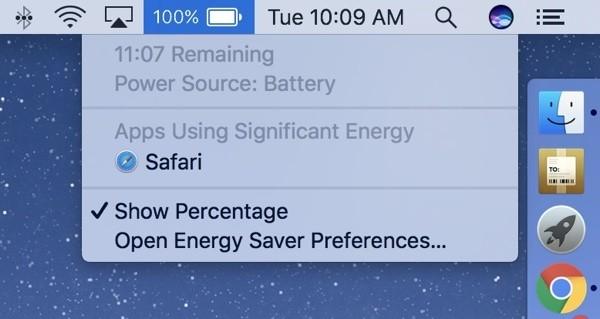 """新版MacBook Pro续航时间与宣传不符,""""剩余电量可用时间""""功能被移除"""