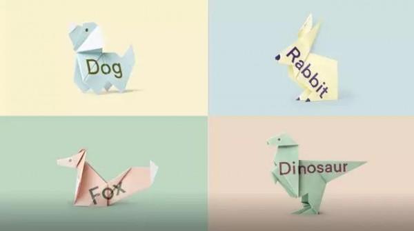 可爱的动物 在折纸的过程中,人们也能逐渐明白 失读者看到的文字虽然