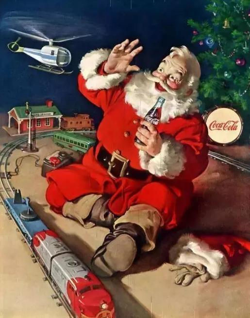 可口可乐圣诞海报